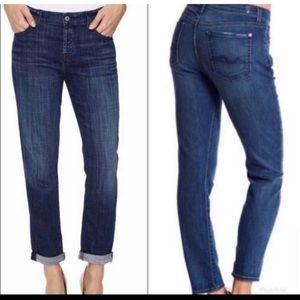 7 For All Mankind/7FAM Slimmy Straight Leg Jeans dark wash size 34